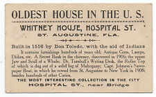 1900 Trade Card for the Whitney House St Augustine Florida Oldest House in U,S,