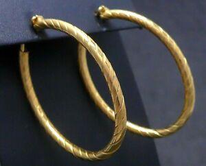 Ohrringe earrings GOLD plt. Kreolen Creole Creolen 925 Sterling SILBER vergoldet