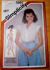 Vintage SIMPLICITY Pattern # 5882~Misses' Pullover Dress Or Top ~SZS 10-14 UNCUT