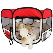45In Portable Foldable 600D Oxford Cloth Mesh Pet Playpen Fence Tent For Dog Cat