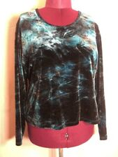 """Maryland Square 2X 50""""Bust Teal Blue Career Holiday Women Blouse Top Shirt KK3"""