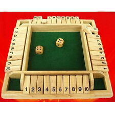 Shut the Box Game Wooden Board Number Drinking Dice Toy Family Traditional New