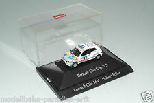 "Herpa 1:87 h0 Renault Clio 16v no18 ""Hubert Faller"" en PC-box VP (e8693)"