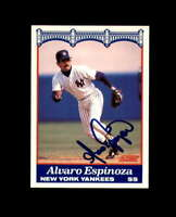 Alvaro Espinoza Hand Signed 1989 Score New York Yankees Autograph