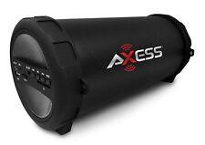 "AXESS Indoor/Outdoor Hi-Fi 3"" Silver Cylinder Bluetooth Speaker SPBT1041-GY"