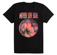 MOTHER LOVE BONE BAND TOUR MEN BLACK COTTON T-SHIRT FOR UNISEX IN MOST SIZES