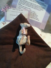 #B  Miniature Full Body Solid Silicone baby Kangaroo reborn doll Mini 5""