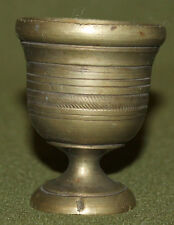 Antique hand made small brass mortar