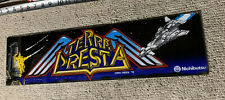 "22 3/8-5 7/8"" ORIGINAL Terra Cresta PLEXI sign marquee ARCADE  GAME PART"