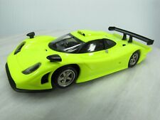 Used Fly 1/32 Evo2 Slot Car - Porsche 911 Gt1 98 - Neon Yellow - Made in Spain