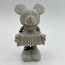 Vintage 1930 Mickey Mouse Playing Accordion Musician Bisque Ceramic Worn Glaze