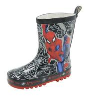 Childrens Spiderman Wellington Boots Kids Wellies Outdoor Shoes