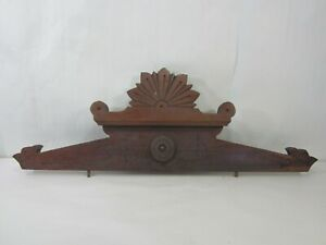 Antique Eastlake Wooden Furniture Pediment/Bonnet #2