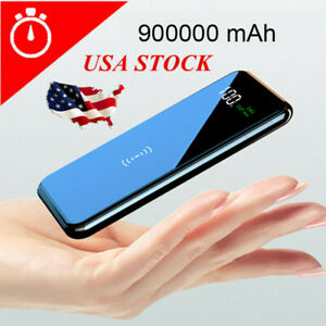 Qi Wireless Power Bank 950000mAh Backup Portable Charger External Battery Backup