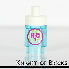 Lego MINIFIGURE Trans Light Blue Brick Round 1 x 1 H2O Bottle of Water Sports