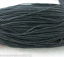 5 Meter Black Premium Cotton Waxed Cord Thread for Necklace 1mm Dia(YC131)