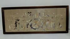 Victorian Punch Paper Motto Embroidered Sampler Faith Hope And Charity