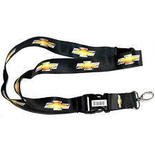 Chevy Logo Lanyard Yellow & Black Key-Chain Cord