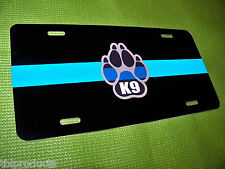 Thin Blue Line - Police- Reflective K9  Plate- Really Nice!! W/ Free K9 decal !