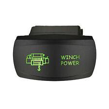 Rocker switch 651SG 12V WINCH POWER Horizontal Laser LED green polaris maverick