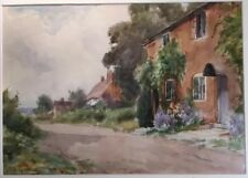 Beautiful Original Watercolour Signed SID GARDNER: Country Cottage Rural Scene