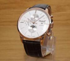 Mens Classic White Rose-Gold Calendar Moonphase Ingersoll Aurora Automatic Watch