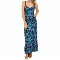 Tommy Bahama Blue Floral Maxi Dress New