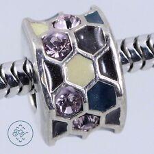 Sterling Silver | PERSONA Geometric Beehive ENAMEL Bead | Charm Pendant