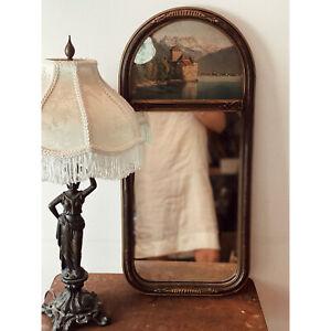 Antique Art Nouveau Trumeau Mirror