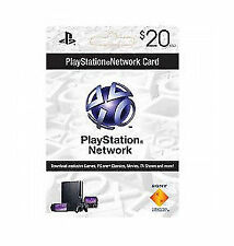 Sony PlayStation Network 20$ Card digital