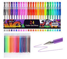 48 Pack, Kids Art Supplies, Glitter Gel Pens Colored Drawing Doodling Scrapbooks