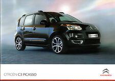 Citroen C3 Picasso 2010-12 UK Market Sales Brochure VT VTR+ Exclusive