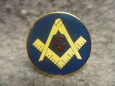 Blue Enamel Pin Masonic Emblem Square & Compass Symbol Of Fraternity Freemasonry