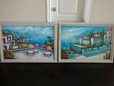 TWO (2) CANVAS HAND PAINTED OIL PAINTINGS (includes frame)