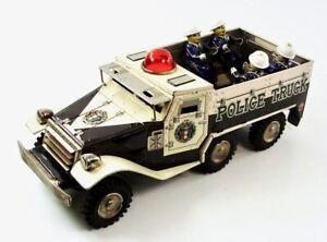 "1960s Armored Police Patrol 10.5"" (26.7 cm) Japanese Tin Truck by Yonezawa NR"