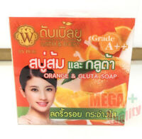65g W BATH BODY Orange + Gluta SOAP  Reduce wrinkles and White washed