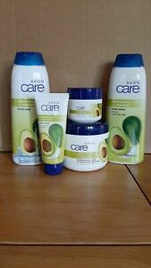 AVON CARE AVOCADO SET of 5 body wash, lotion, hand, facial & Multipurpose cream
