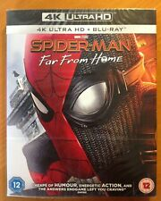SPIDER-MAN FAR FROM HOME (4K UHD Blu-ray) + SLIPCOVER *NEW/SEALED* Marvel