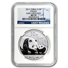 2011 China 1 oz Silver Panda MS-70 NGC (Early Releases) - SKU #60688