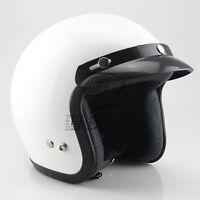 Vintage Cruiser 3/4 Open Face Motorcycle ATV Off Road Helmet Sun Shield M/L/XL