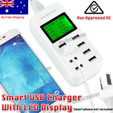 8 Port Smart AC USB Wall Charger LED iPad iPhone Android Tablet 5v/8a40w AU Plug