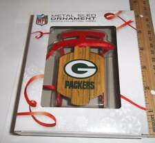 Too Cool! New Licensed Green Bay Packers Metal Sled Christmas Ornament ___S95