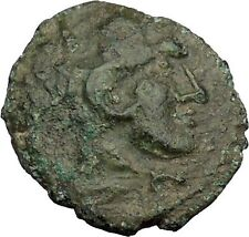 LELUKAS AKARNANIA 350BC Hercules Club Authentic Ancient Greek Coin Ex-BCD i38096