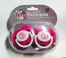 Pittsburgh Steelers PINK Baby Infant Pacifiers NEW 2 Pack SHOWER GIFT! girls