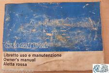 CAGIVA libretto uso e manutenzione Aletta rossa