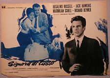 Fotobusta SIGNORA DI LUSSO 1962 RARA!! ROSALIND RUSSEL, MAXIMILIAN SCHELL