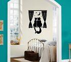 Wall Stickers Vinyl Decal Home Decor Cat Night Romance Ig1370