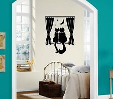 Wall Stickers Vinyl Decal Home Decor Cat Night Romance ig1370