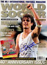 Paolo Maldini AC Milan SIGNED World Soccer Magazine COA