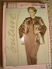 Style Couture 3166 sz 10 -16 Formal Jacket Pant Lounge 1980 Uncut Sewing Pattern